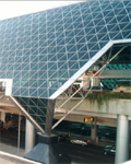 Canopy of Taiwan International Airport Terminal